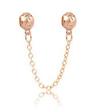 Raised Hearts Safety Chain - Gold