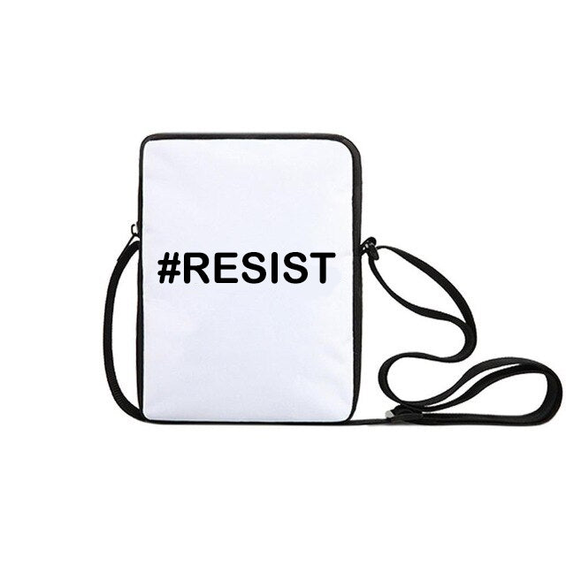 #RESIST Cross Body Tote/Messenger bag -  Free Customization