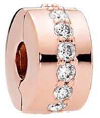 Rose Gold CZ Security Bead
