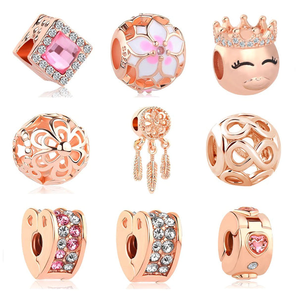 Rose Gold Treasures Collection  -  European Pandora Style Beads