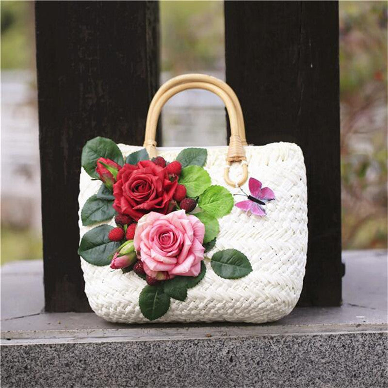 The Rosenberry Straw Tote w/ Rattan Handle  :: Available in 4 Styles