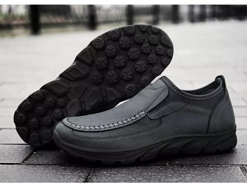 Style 102 Men's Genuine Leather Breathable Casual Slip On Sneaker :: Available in 3 Colors