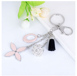 Style 1101 Floral Tassle Bag Charm/Key Ring