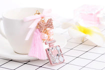 Style 1102 Satin Ribbon & Tassel Perfume Bottle Bag Charm & Key Ring