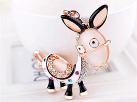 Style 1113 Crystal Donkey Key Chain - Best Seller!
