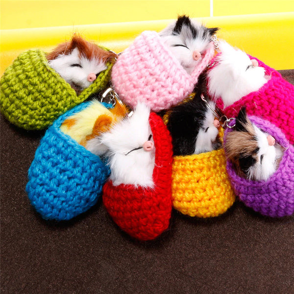 Style 1114 Cute Sleeping Kitten  - Available in 7 Colors - Best Seller!