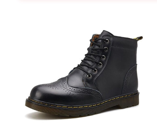 Style 114 Leather Urban Style Wingtip Ankle Boots