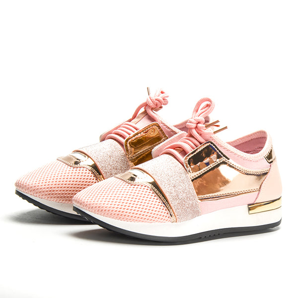 Style 124 Euro Luxury Women's Trainers/Sneakers  :: Available in 11 Colors