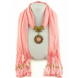 Style 125 Boho Daisy Pendant Scarf :: Available in 6 Colors
