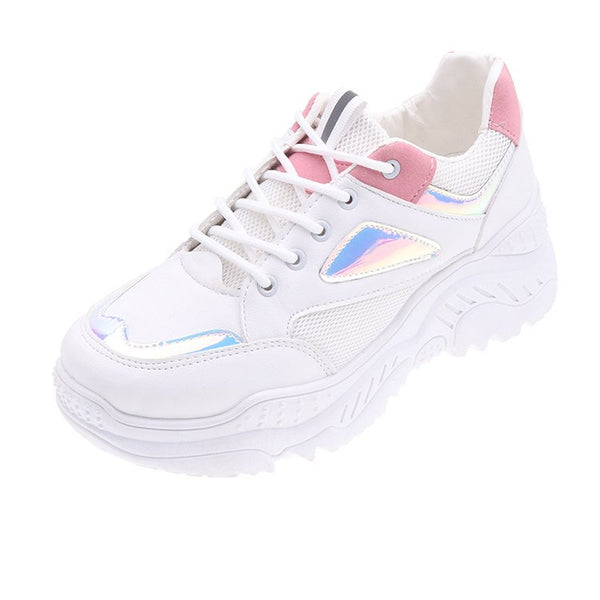 Style 127 Shimmering Artscape Women's Designer Sports Sneakers   :: Available in 2 Colors