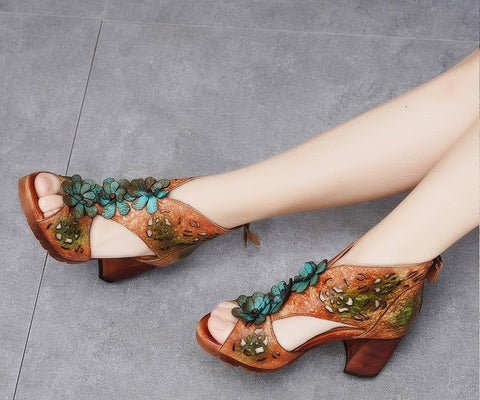 Style 1722 Bohemian Summer Collection - Genuine Leather Sandal Boots