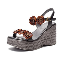 Style 1723 Bohemian Summer Collection - Strappy Floral Wedge Sandal