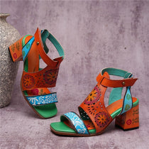 Style 1724 Bohemian Summer Collection - Mandela Square Heel Sandal
