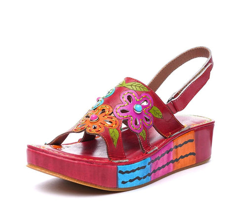 Style 1727 Bohemian Summer Collection - Boho Flower Child Sandals
