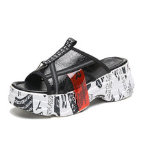 Style 1735 Women's Chunky Graffiti Slip On's :: Available in 2 Colors