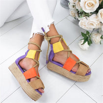 Women's Summer Hemp Gladiator Style Espadrilles  :: Available in 4 Colors