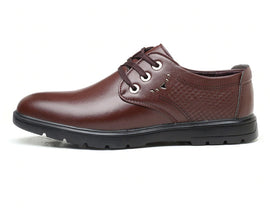 Style 201 Men's Genuine Leather Business Leisure Lace Up :: Available in 2 Colors