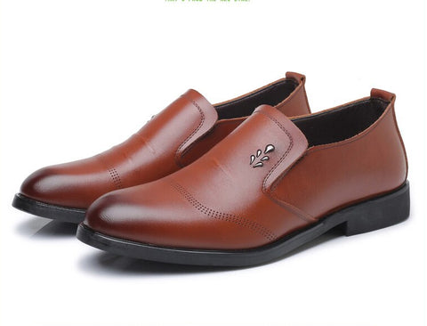 Style 202 Men's Genuine Leather Elegant Business Slip On's :: Available in 2 Colors