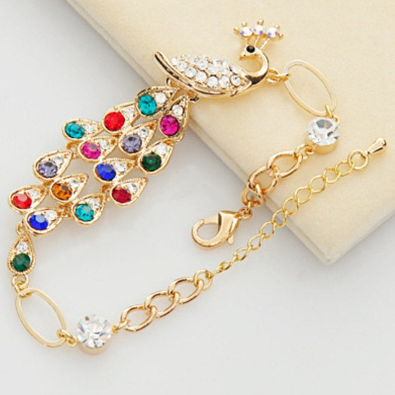 Style 1114 Rainbow Peacock Anklet