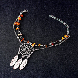 Style 2115 Boho Dream Catcher Anklet - Available in 5 Colors