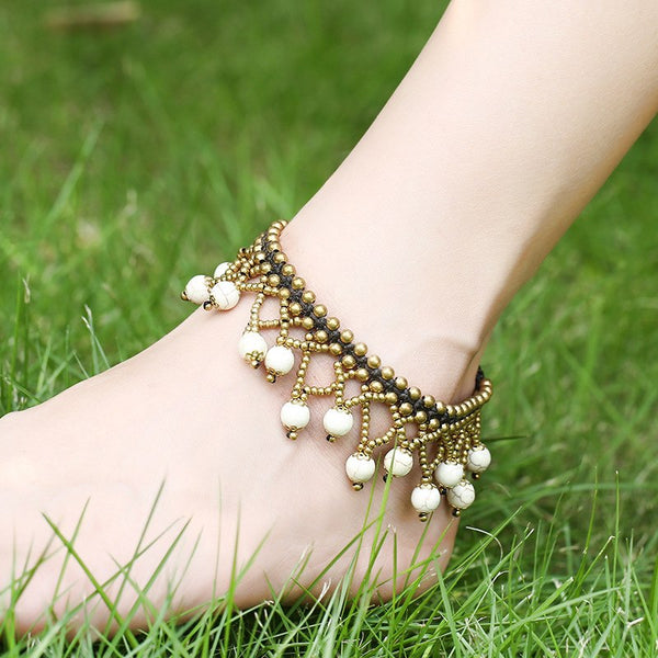 Style 1116 Vintage Bohemian Braided Anklet  - Available in 4 Colors