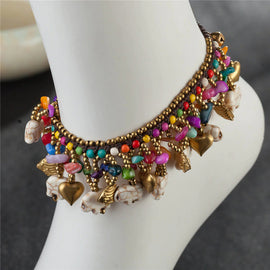 Style 2117 Ethnic Beaded Anklet  - Available in 3 Colors