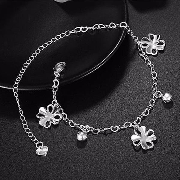 Style 2122 Delicate Four Leaf Clover Anklet