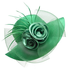 Style 223 Fancy/Summer Hat w/ Silk Rose  - 10 Colors