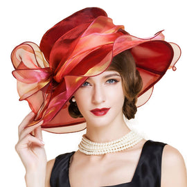 Style 224 Fancy Kentucky Derby Hat  - 4 Colors