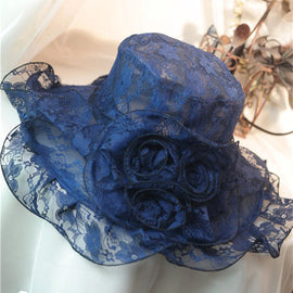 Style 225 Lace Kentucky Derby Hat  - 2 Colors