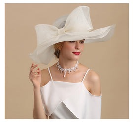 Style 227 Luxury Collection Linen Kentucky Derby Hat - 2 Colors