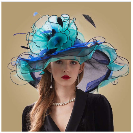 Style 228 Fancy Women's Organza Kentucky Derby Hat  - 5 Colors