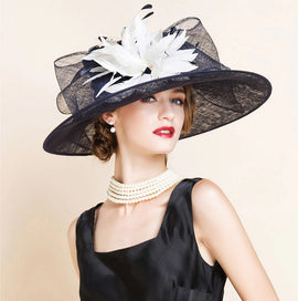 Style 229 Luxury Linen Kentucky Derby Hat  - 2 Colors