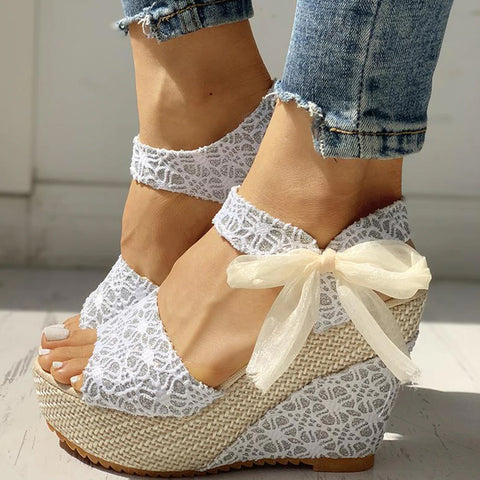 Style 3311 Women's Summer Lace Wedges  :: Available in 3 Colors