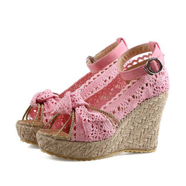Style 3312 Women's Summer Knotted Macrame Wedges  :: Available in 4 Colors