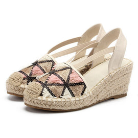 Geometric Pattern Espadrilles  :: Available in 2 Colors