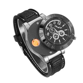 Style 4412 Military Grade USB Charging Watch w/Flameless lighter  - Available in 7 Colors