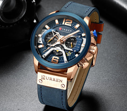 Style2413 Mens Luxury Chronograph Sports Watch - Available in 5 Colors