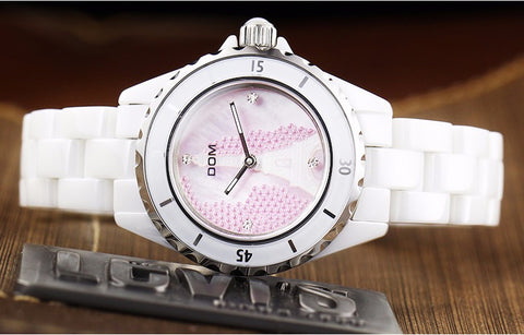 Model 4314 DOM Eiffel Tower Ceramic Luxury Ladies Fashion Watch