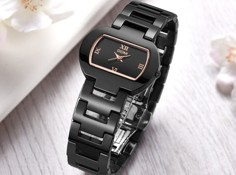 Model 4315 DOM Rectangle Ceramic Ladies Luxury Fashion Watch