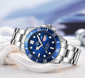 Style 2316 Carnival Men's Luxury Swiss Diving Watch  - Available in 7 Colors - BEST SELLER!