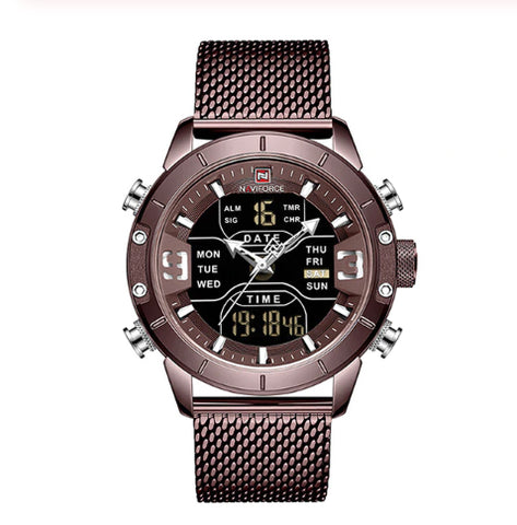 Style 4420 Dual Multi Function Quartz Military Watch - Available in 5 Colors