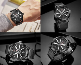 Style 4421 Men's Multi Function Quartz Naval Military Watch - Available in 5 Colors