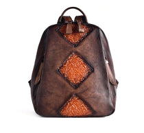 Boho Aztec Genuine Leather Designer Backpack :: Available in 4 Colors