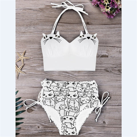 Style 500 Kitty Bikini :: Available in 2 Colors
