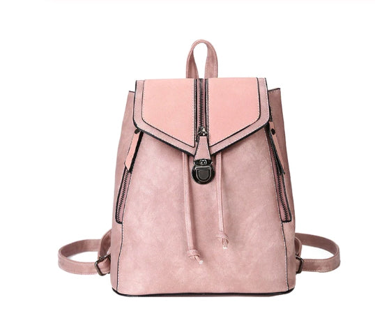 Style 502 Vintage Matte Leather Back Pack in 4 Colors