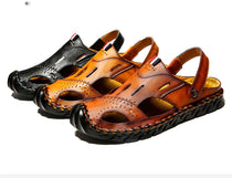 Style 709 Men's Genuine Leather Slip On Mandals :: Available in 3 Colors