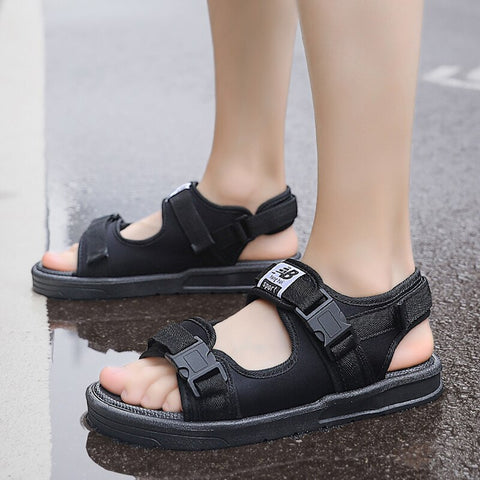 Style 712 Unisex Casual Canvas Summer Strappy Sandals :: Available in 2 Colors