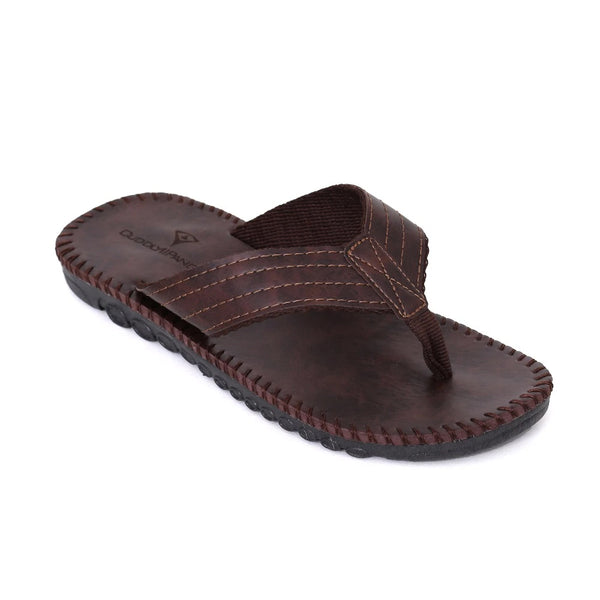 Style 714 Men's Hand Sewn Casual Leather Flip Flops