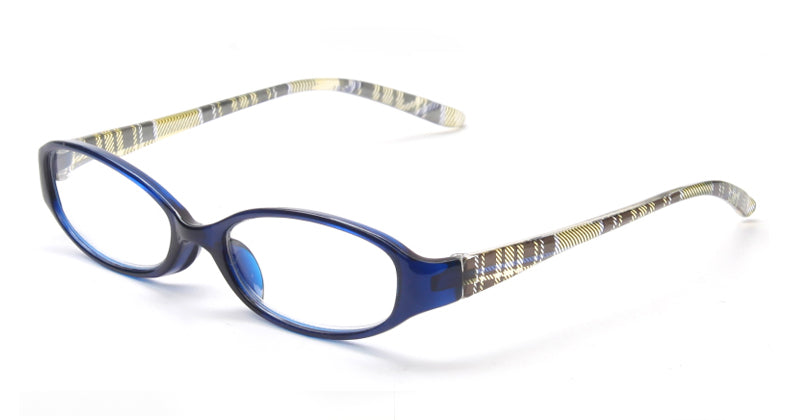 Style 7724 Trendy Plaid Designer Women's Reading Glasses    :: Available in 3 Colors